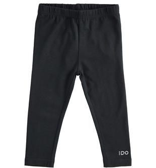 Leggings lungo con logo di strass ido NERO-0658