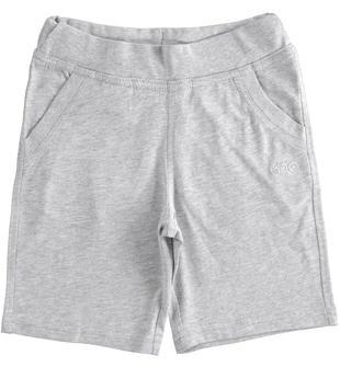 Pratico pantalone corto in jersey ido GRIGIO MELANGE-8992