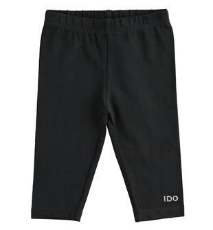 Leggings in jersey modello pescatora ido NERO-0658