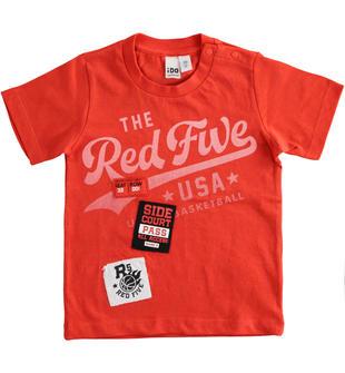 T-shirt bambino a manica corta 100% cotone ido ROSSO-2235