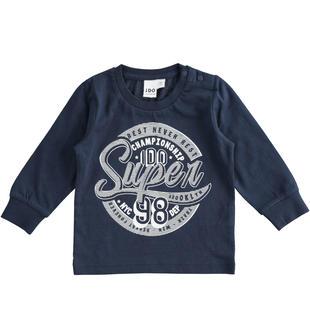 Leggera e colorata maglietta 100% cotone ido NAVY-3885