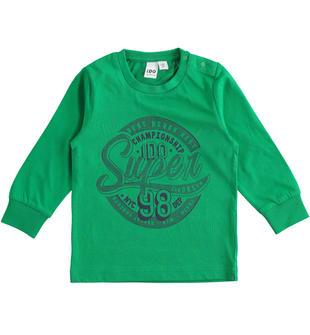 Leggera e colorata maglietta 100% cotone ido VERDE-5156