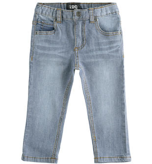Denim in tessuto délavé jacquard ido STONE WASHED-7450
