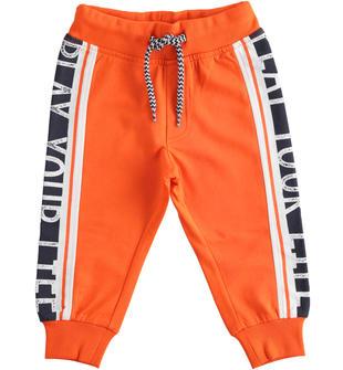 Colorato pantalone lungo in felpa ido ARANCIO-2213