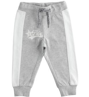 Colorato pantalone lungo in felpa ido GRIGIO MELANGE-8992