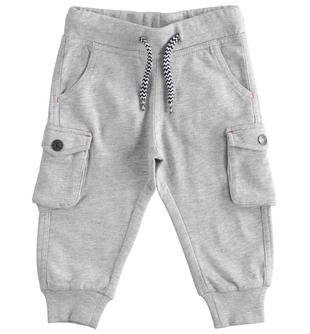Pantalone in felpa modello cargo ido GRIGIO MELANGE-8992