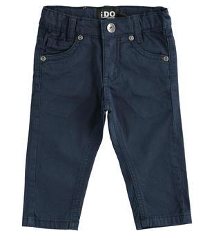 Pantalone bambino modello 5 tasche in twill di cotone ido NAVY-3885