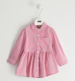 Maxi camicia in tessuto rigato ido FUXIA-2445