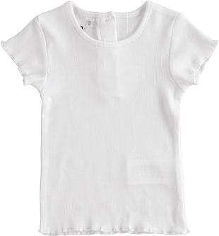 T-shirt in tessuto di costina ido BIANCO-0113