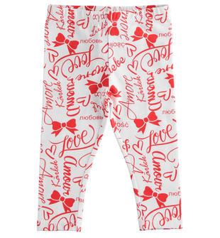 Pratico e comodo leggings bambina in cotone stretch ido