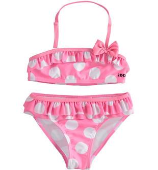 Bikini con fantasia macro pois ido ROSA-BIANCO-8001