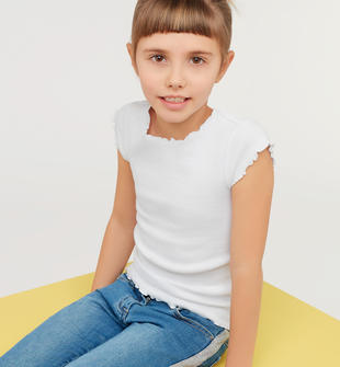 Colorata t-shirt in cotone stretch ido BIANCO-0113