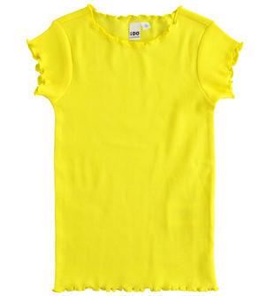 Colorata t-shirt in cotone stretch ido GIALLO-1434