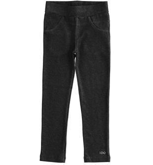 Leggings in jersey effetto denim ido NERO-0658