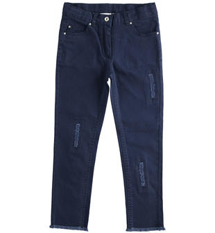 Pantalone lungo in twill con rotture ido NAVY-3854
