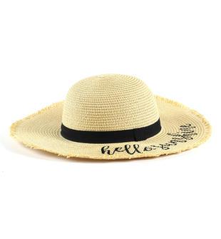 Cappello bambina in paglia a tesa larga ido ECRU'-0154