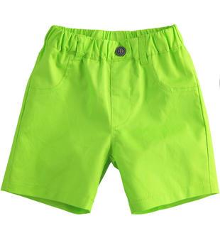 Pantalone corto in twill 100% cotone ido VERDE-5237