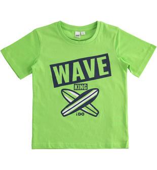 T-shirt jersey 100% cotone tavole surf ido GREEN-5134
