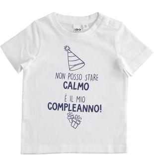 Simpatiche e colorate t-shirt 100% cotone ido BIANCO-0113
