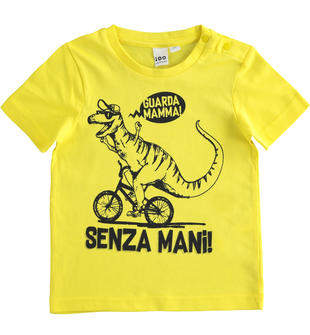 Simpatiche e colorate t-shirt 100% cotone ido GIALLO-1434