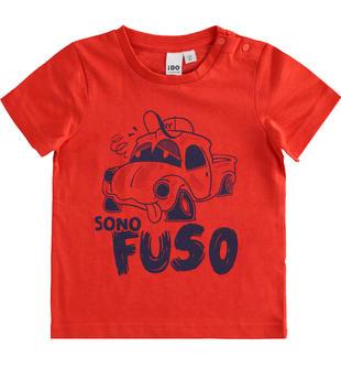 Simpatiche e colorate t-shirt 100% cotone ido ROSSO-2235