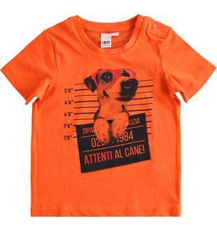 T-shirt bambino mezza manica 100% cotone con stampa fotografica ido ARANCIO-2213