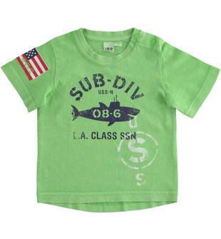 Grintosa t-shirt stampa sub ido GREEN-5134