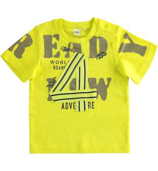 Grintosa e colorata t-shirt 100% cotone con numero ido VERDE-5243