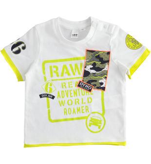 T-shirt bambino manica corta in jersey 100% cotone ido BIANCO-0113