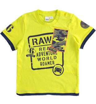 T-shirt bambino manica corta in jersey 100% cotone ido VERDE-5243