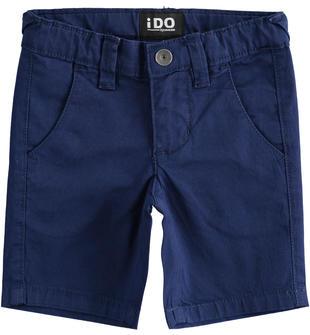Pantalone corto in twill stretch ido NAVY-3547
