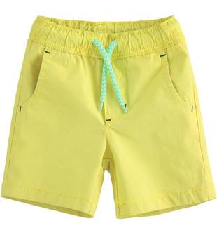 Bermuda bambino in popeline di cotone stretch ido VERDE-5243