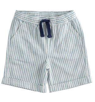 Pantalone corto in twill rigato ido AVION-3654