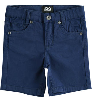 Pantalone corto in twill stretch con vita regolabile ido NAVY-3547