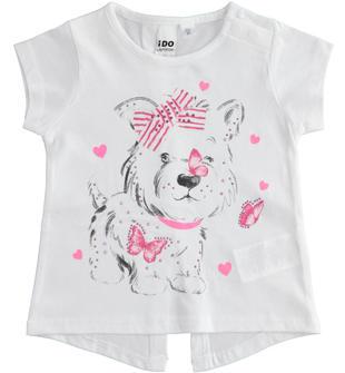 Particolare t-shirt con cagnolino ido BIANCO-0113