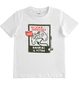 Simpatica t-shirt 100% cotone ido BIANCO-0113