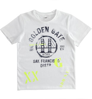 T-shirt Golden Gate 100% cotone ido BIANCO-0113