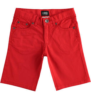 Pantalone corto in twill stretch ido ROSSO-2256