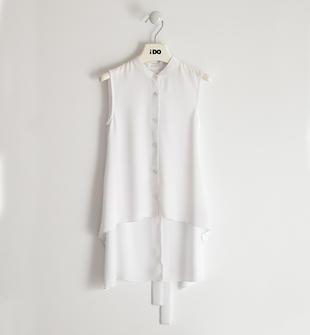 Camicia bambina in crepes bianco ido BIANCO-0113