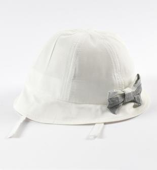 Cappellino con fiocco a quadri ido PANNA-0112