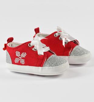 Graziose sneakers con glitter ido ROSSO-2235