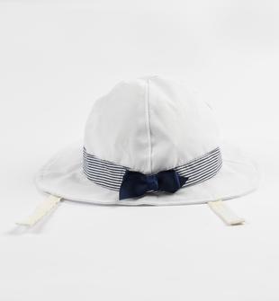 Cappello a tesa larga con fiocco ido BIANCO-0113