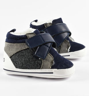 Sneakers in velluto 2000 righe con apertura incrociata ido NAVY-3885