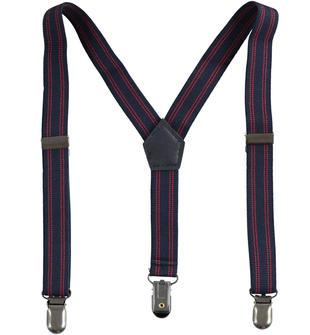 Bretelle bimbo in tape elasticizzato motivo rigato ido NAVY-3885