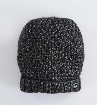 Cappello modello cuffia con filo lurex ido NERO-SILVER-8393