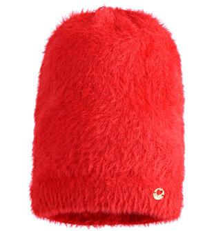 Cappello modello cuffia in filato lungo e rasato con lurex ido ROSSO-2253