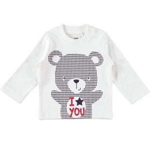 Maglietta girocollo con allegre grafiche ido PANNA-0112