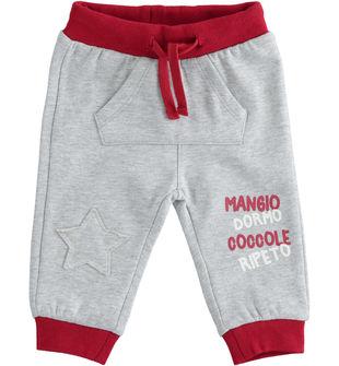 Pantalone in felpa con tasca a marsupio ido GRIGIO MELANGE-8992