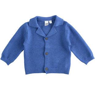 Cardigan in cotone misto lana ido