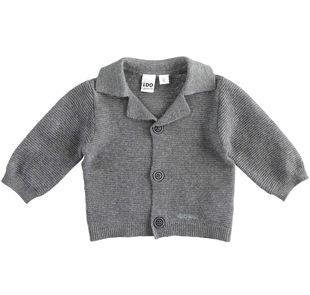 Cardigan in cotone misto lana ido GRIGIO MELANGE-8993